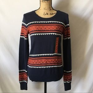 NWT Mossimo Women's Fair Isle Blue Sweater Sz M